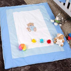 Babyzimmer Yves 19-tlg. mit 2 türigem Schrank + gr. Bett, Textilset Memi in Blau – Bild 16
