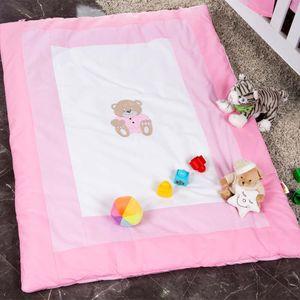 Babyzimmer Yves 19-tlg. mit 2 türigem Schrank + gr. Bett, Textilset Memi in Rosa – Bild 16