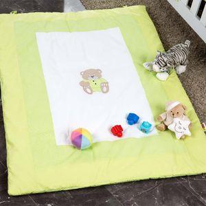 Babyzimmer Yves 19-tlg. mit 2 türigem Schrank + gr. Bett, Textilset Memi in Grün – Bild 16
