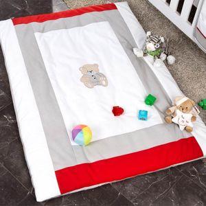 Babyzimmer Yves 19-tlg. mit 2 türigem Schrank + gr. Bett, Textilset Memi in Grau – Bild 15