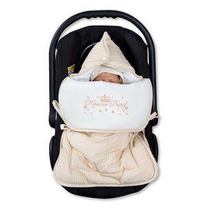 Babyzimmer Yves 19-tlg. mit 2 türigem Schrank + gr. Bett, Textilset Kleiner Prinz in Beige – Bild 11