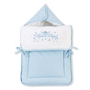 Babyzimmer Yves 19-tlg. mit 2 türigem Schrank + gr. Bett, Textilset Kleiner Prinz in Blau – Bild 10