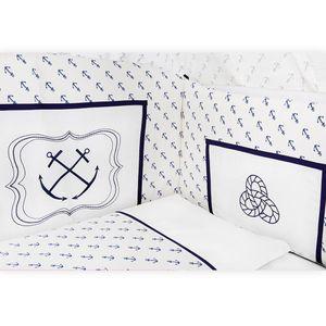 Babyzimmer Yves 19-tlg. mit 2 türigem Schrank + gr. Bett, Textilset von Kleiner Matrose in Blau – Bild 5