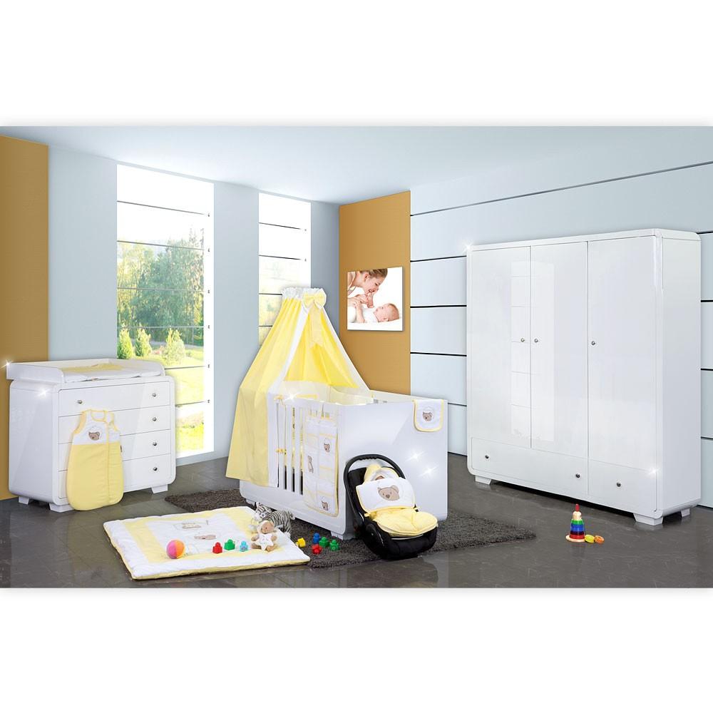 Babyzimmer Yves 19 Tlg Mit 3 Turigem Schrank Kl Bett Set Von