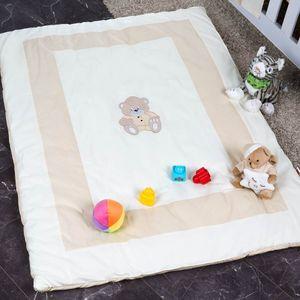 Babyzimmer Yves 21-tlg. mit 3 türigem Schrank + kl. Bett, Set Memi Bear Beige – Bild 16