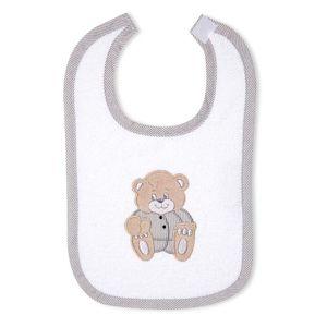 Babyzimmer Yves 21-tlg. mit 3 türigem Schrank + kl. Bett, Set Memi Bear Grau – Bild 12