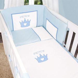 Babyzimmer Yves 21-tlg. mit 3 türigem Schrank + kl. Bett, Set Prince Blau – Bild 5
