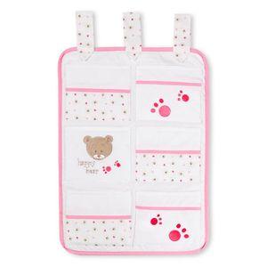 Babyzimmer Yves 21-tlg. mit 3 türigem Schrank + kl. Bett, Set von Cute Bear Rosa – Bild 7