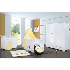 Babyzimmer Yves 21-tlg. mit 3 türigem Schrank + kl. Bett, Set von Little Bear Gelb – Bild 1