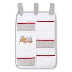 Babyzimmer 19-tlg. in Sonoma-Cream mit 2 türigem Kl. + Set Sleeping Bear Grau – Bild 22