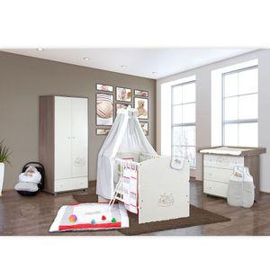 Babyzimmer 19-tlg. in Sonoma-Cream mit 2 türigem Kl. + Set Sleeping Bear Grau – Bild 2