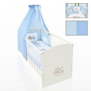 Babyzimmer 10-tlg. in Sonoma-Cream mit 2 türigem Kl. + Set Sleeping Bear Blau – Bild 9