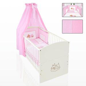 Babyzimmer 10-tlg. in Sonoma-Cream mit 2 türigem Kl. + Set Sleeping Bear Rosa – Bild 8