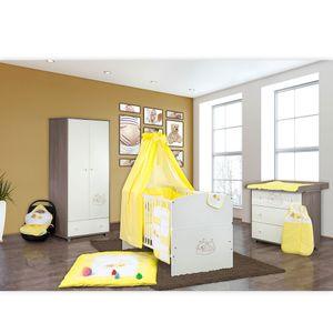 Babyzimmer 10-tlg. in Sonoma-Cream mit 2 türigem Kl. + Set Sleeping Bear Gelb – Bild 2