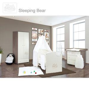 Babyzimmer 10-tlg. in Sonoma-Cream mit 2 türigem Kl. + Set Sleeping Bear Weiss – Bild 1