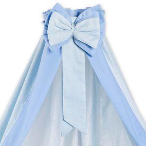 Babyzimmer 19-tlg. in Weiß mit 2 türigem Kl. + Set Sleeping Bear Blau – Bild 7