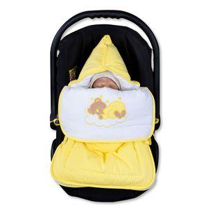 Babyzimmer 19-tlg. in Weiß mit 2 türigem Kl. + Set Sleeping Bear Gelb – Bild 15