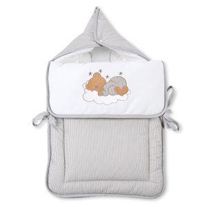 Babyzimmer 19-tlg. in Weiß mit 2 türigem Kl. + Set Sleeping Bear Grau – Bild 13