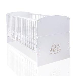 Babyzimmer 19-tlg. in Weiß mit 2 türigem Kl. + Set Sleeping Bear Weiß – Bild 3