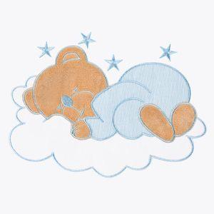 Babyzimmer 10-tlg. in Weiß mit 2 türigem Kl. + Set Sleeping Bear Blau – Bild 10