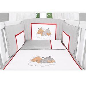 Babyzimmer 10-tlg. in Weiß mit 2 türigem Kl. + Set Sleeping Bear Grau – Bild 8