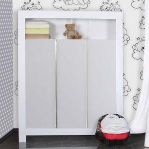 Babyzimmer Felix in weis/grau 21 tlg. mit 3 türigem Kl + Sleeping Bear in weiss – Bild 4