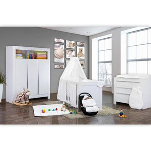 Babyzimmer Felix in weiss  21 tlg. mit 3 türigem Kl + Sleeping Bear in weiss – Bild 2