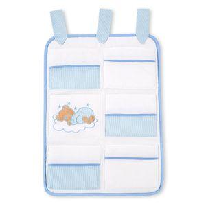 Babyzimmer Felix in weiss  21 tlg. mit 3 türigem Kl + Sleeping Bear in blau – Bild 9