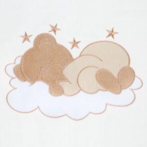 Babyzimmer Yves 21-tlg. mit 3 türigem Schrank + kl. Bett, Set Sleeping Bear Beige – Bild 6
