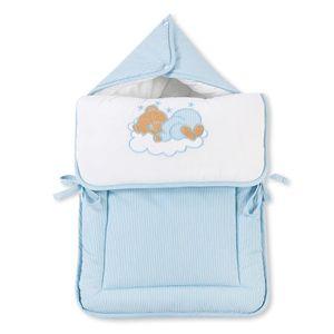 Babyzimmer Yves 21-tlg. mit 3 türigem Schrank + kl. Bett, Set Sleeping Bear Blau – Bild 10