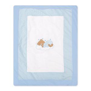 Babyzimmer Yves 21-tlg. mit 3 türigem Schrank + kl. Bett, Set Sleeping Bear Blau – Bild 15