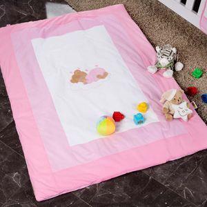 Babyzimmer Yves 21-tlg. mit 3 türigem Schrank + kl. Bett, Set Sleeping Bear Rosa – Bild 16