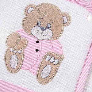 Babyzimmer Yves 21-tlg. mit 3 türigem Schrank + kl. Bett, Set Memi Bear Rosa – Bild 9