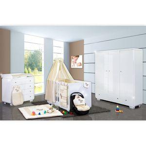 Babyzimmer Yves 21-tlg. mit 3 türigem Schrank + kl. Bett, Set von Prestij Beige – Bild 1