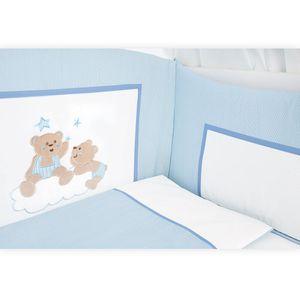 Babyzimmer Yves 21-tlg. mit 3 türigem Schrank + kl. Bett, Set von Joy Blau – Bild 5