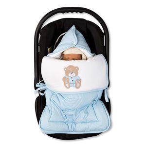 Babyzimmer Yves 21-tlg. mit 3 türigem Schrank + kl. Bett, Set Memi Bear Blau – Bild 10