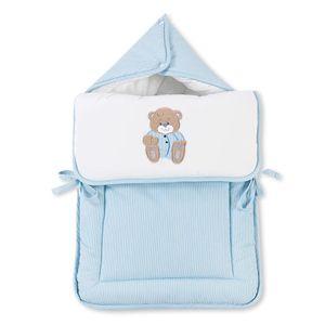 Babyzimmer Yves 21-tlg. mit 3 türigem Schrank + kl. Bett, Set Memi Bear Blau – Bild 9