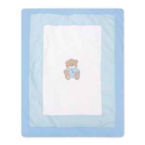 Babyzimmer Yves 21-tlg. mit 3 türigem Schrank + kl. Bett, Set Memi Bear Blau – Bild 15