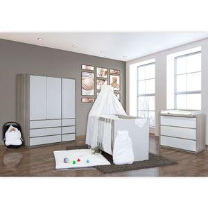 Babyzimmer Atlanta in Akaziengrau 19 tlg. Mit 3 türigem Kl. + Sleeping Bear Weiß – Bild 2