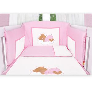 Babyzimmer Atlanta in Weiss 19 tlg. mit 3 türigem Kl. + Sleeping Bear Rosa – Bild 11
