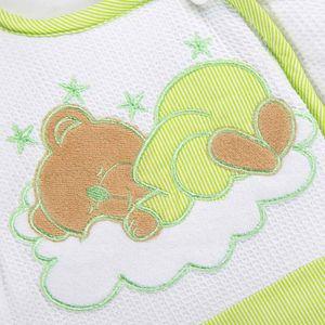 Babyzimmer Atlanta in Weiss 19 tlg. Mit 3 türigem Kl. + Sleeping Bear Grün – Bild 15