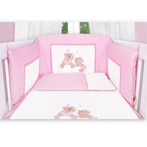 Babyzimmer Atlanta in Weiss 19 tlg. mit 3 türigem Kl. + Joy Rosa – Bild 11