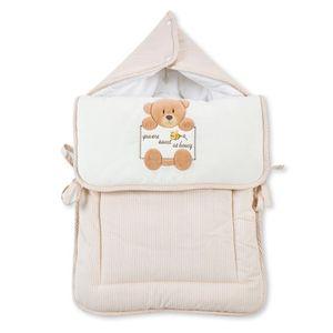 Babyzimmer Atlanta in Weiss 19 tlg. mit 3 türigem Kl. + Textilset von Honey Bear Beige – Bild 21