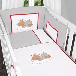 Babyzimmer Atlanta in Weiss 19 tlg. mit 3 türigem Kl. + Sleeping Bear Grau – Bild 12