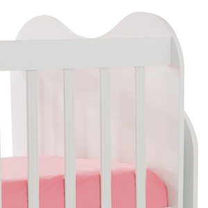 Mitwachsendes Babybett Kinderbett mit integrierter Wickelkommode und Wipp-Funktion, 70x130 cm – Bild 5