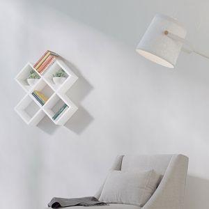 Manhattan Wandregal, CD Regal, DVD Regal, Bücherregal, Regal in Weiss, Schwarz, Sonoma Farbe – Bild 9