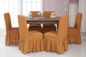 Lange Stretch Stuhlhusse Stuhlbezug Elastische Husse Dekoration Stuhl Husse aus Elastik-Stoff für universelle Passform – Bild 9