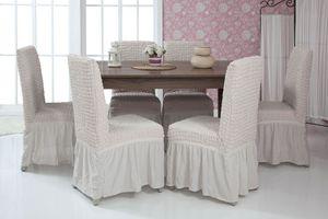 Lange Stretch Stuhlhusse Stuhlbezug Elastische Husse Dekoration Stuhl Husse aus Elastik-Stoff für universelle Passform – Bild 15