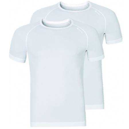Odlo Shirt s/s Crew Neck CUBIC Light Doppelpack Men White | 192282-10440