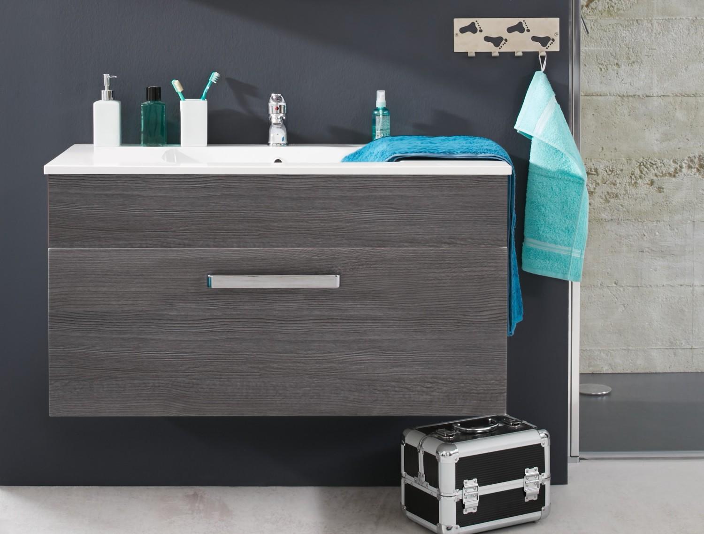 Waschbecken Unterschrank Adamo Rauchsilber Badezimmer Bad - Badezimmer waschbecken mit unterschrank